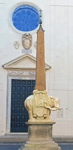 Elephant and Obelisk