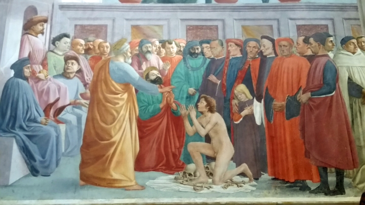 St Paul Visiting St Peter in Prison Lippi